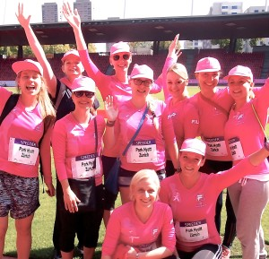 The Park Hyatt Zurich team at a previous Pink Ribbon Charity Walk.