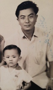 Ronald Kang and his father
